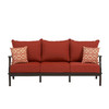 allen + roth Gatewood Cushion Brown Aluminum Sofa