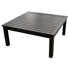 allen + roth Gatewood 40-in W x 40-in L Square Aluminum Coffee Table