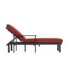 allen + roth Modular Slat Steel Patio Chaise Lounge