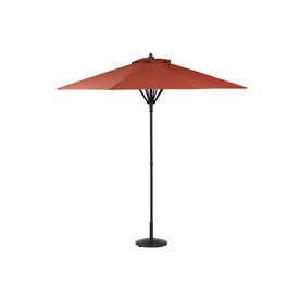 Garden Treasures Hayden Island Round Red Market Umbrella with Pulley (Actual: 8.83-ft x 8.83-ft)