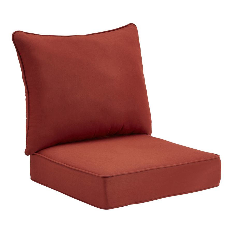 in allen roth sunbrella canvas chili red deep seat patio chair cushion