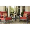 allen + roth Sunbrella Canvas Chili Red Texture Cushion for Deep Seat Chair