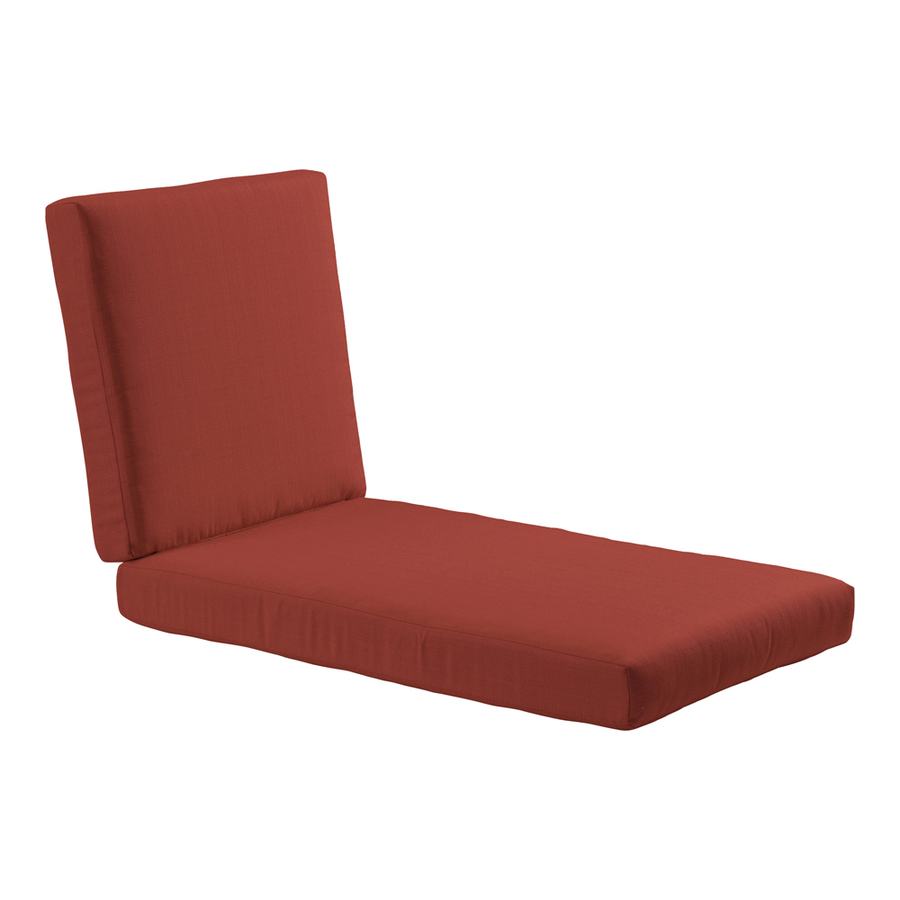 Shop allen roth sunbrella canvas chili red patio chaise for Chaise cushions clearance