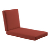 allen + roth Sunbrella Canvas Chili Red Solid Cushion For Chaise Lounge