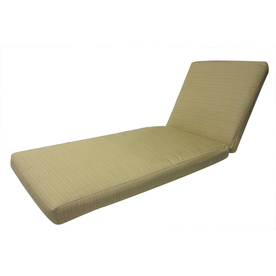 Shop allen roth sunbrella dupione bamboo patio chaise for Allen roth steel patio chaise lounge