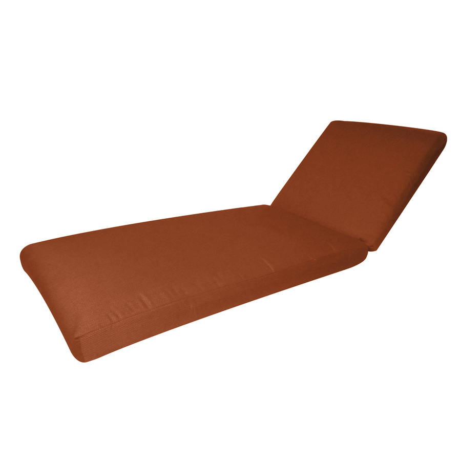 Shop sunbrella rust patio chaise lounge cushion at for Chaise longue cushion