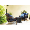 allen + roth Canvas Navy Texture Cushion for Deep Seat Chair