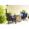 allen + roth Sunbrella Canvas Navy Texture Cushion For Deep Seat Chair