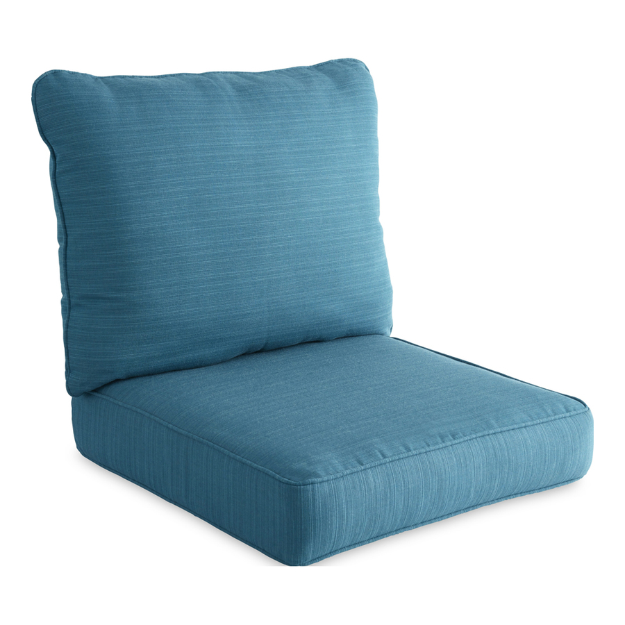 Shop allen roth sunbrella deep sea deep seat patio chair for Sunbrella patio furniture cushions