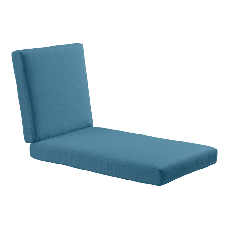 Shop allen roth sunbrella deep sea patio chaise lounge for Allen roth steel patio chaise lounge