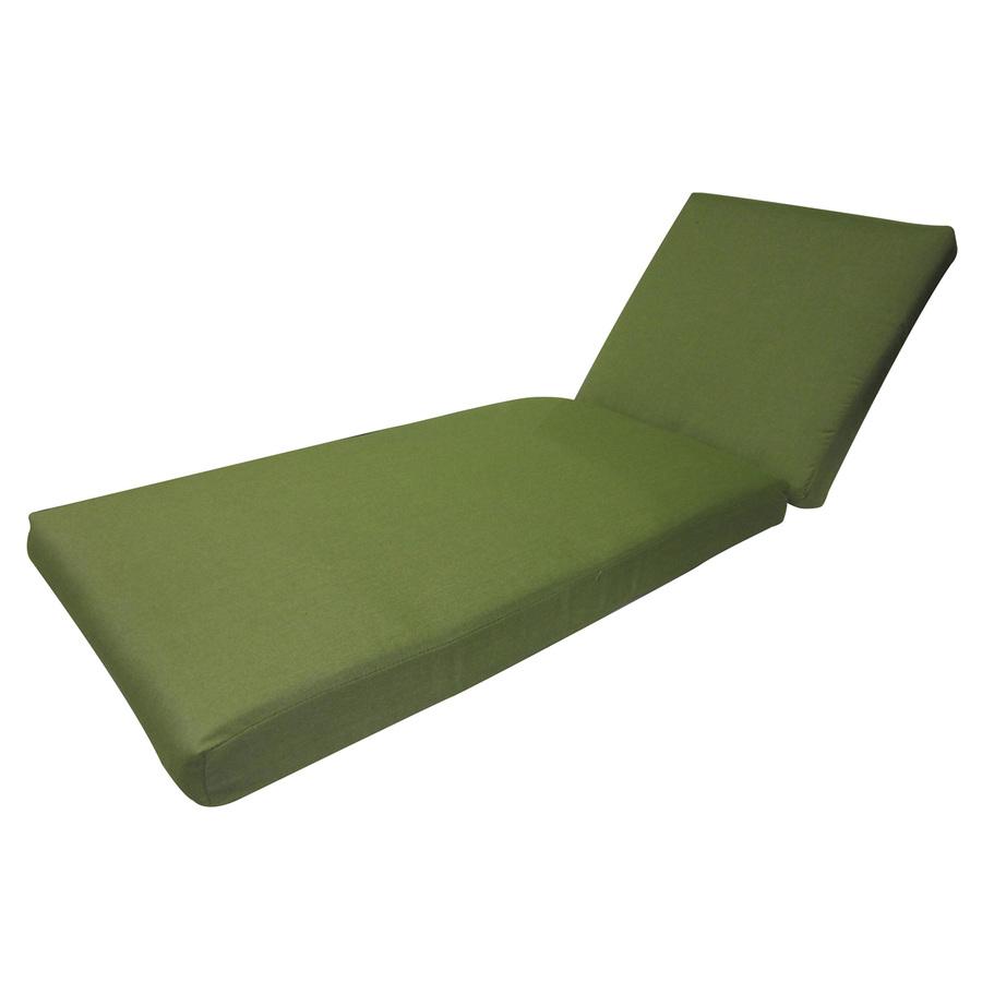 Shop allen roth sunbrella spectrum cilanto patio chaise for Chaise lounge cushions