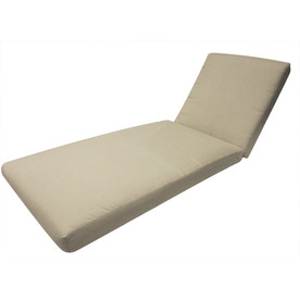 Shop allen roth sunbrella spectrum sand patio chaise for Allen roth steel patio chaise lounge