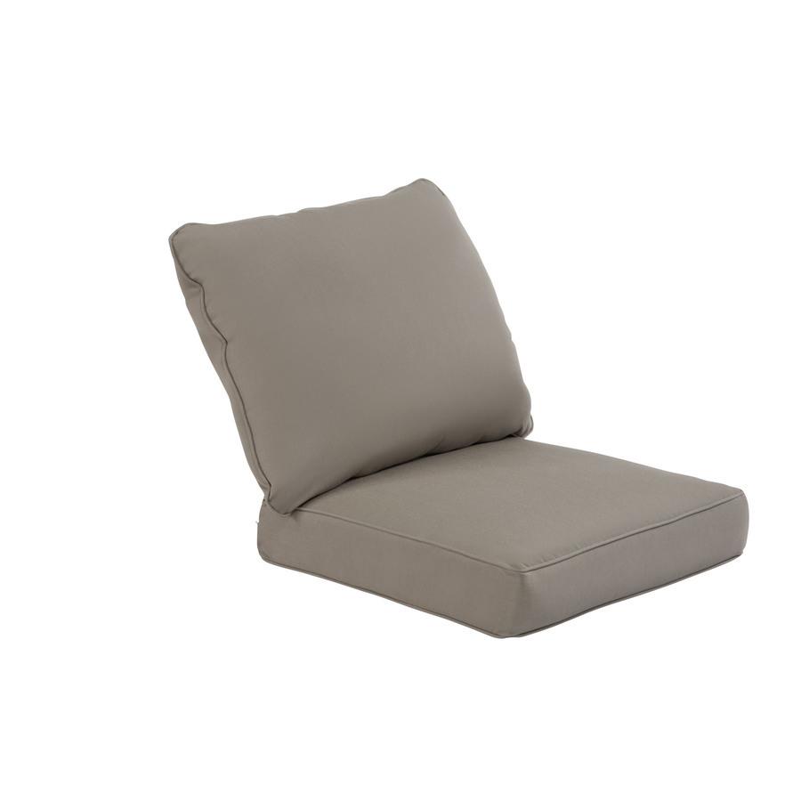 Shop allen roth Sunbrella Taupe Deep Seat Patio Chair