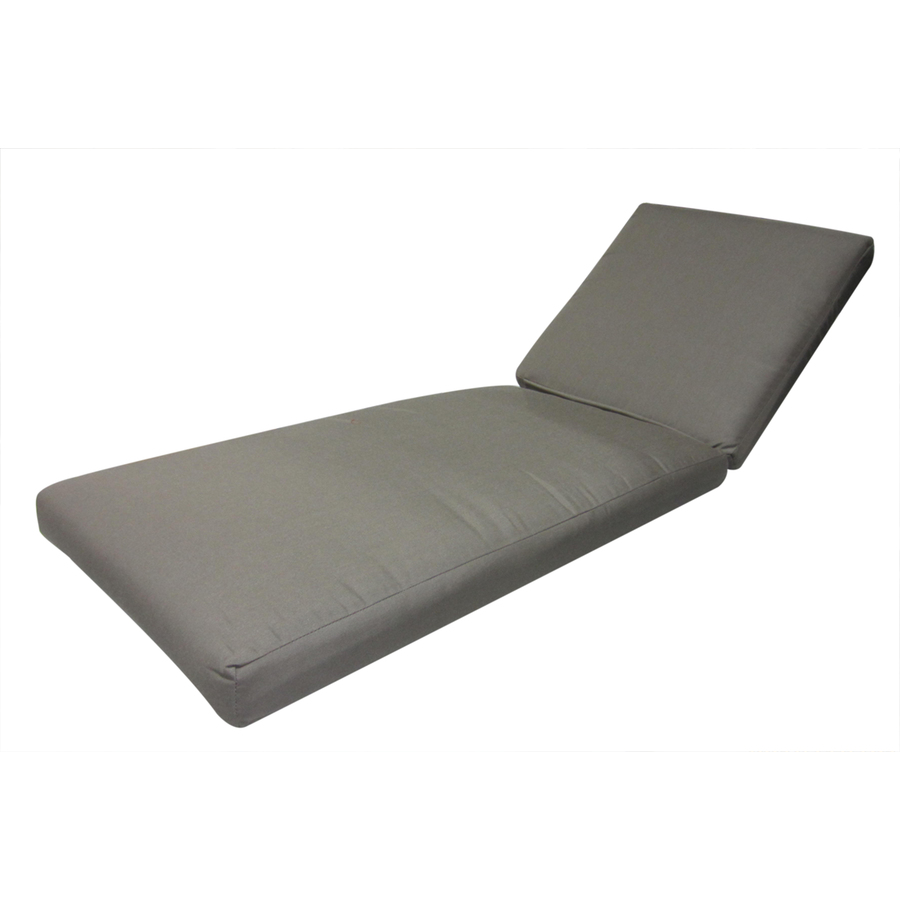 Shop sunbrella taupe patio chaise lounge cushion at for Chaise cushions clearance
