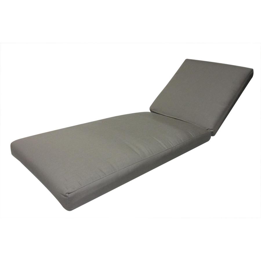 Shop sunbrella taupe patio chaise lounge cushion at for Chaise cushion clearance