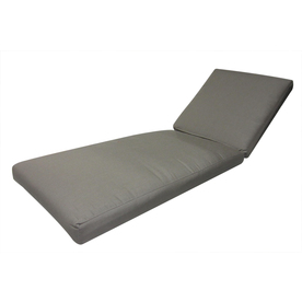 Sunbrella Taupe Patio Chaise Lounge Cushion