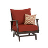 allen + roth Gatewood 2-Count Brown Aluminum Patio Conversation Chairs
