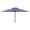 Lowes.com deals on Garden Treasures T203-4-B 7-ft 6-in Round Blue Patio Umbrella