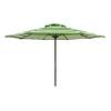 Lowes.com deals on Garden Treasures Round Green Patio Umbrella 90-inch