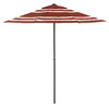 Garden Treasures Round Red Patio Umbrella (Common: 90-in x 90-in; Actual: 90.55-in x 90.55-in)