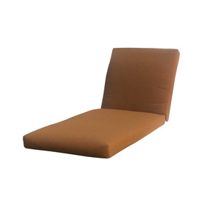 allen + roth Sunbrella Canvas Teak Brown Patio Chaise Lounge Cushion