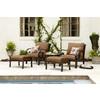 allen + roth Sunbrella Canvas Teak Brown Solid Cushion For Deep Seat Chair