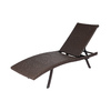 allen + roth Brown Wicker Folding Chaise Lounge Chair