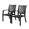 allen + roth Carrinbridge 2-Count Black Aluminum Dining Chair