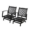 allen + roth Carrinbridge 2-Count Black Aluminum Conversation Chair