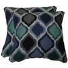 Sunbrella 2-Pack Empire Cobalt Paisley Square Throw Outdoor Decorative Pillow