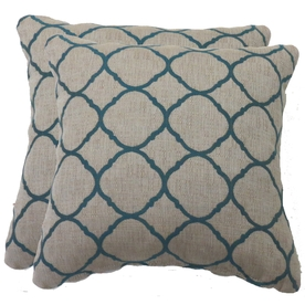 of 2 Accord Lagoon UV-Protected Square Outdoor Decorative Throw Pillow