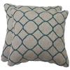 Sunbrella 2-Pack Accord Lagoon Geometric Square Throw Outdoor Decorative Pillow