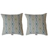 Sunbrella 2-Pack Marisol Peacock Geometric Square Throw Outdoor Decorative Pillow