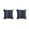 Sunbrella 2-Pack Stanton Lagoon Stripe Square Throw Outdoor Decorative Pillow