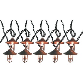 Shop allen + roth 7.8-ft Clear Mini Bulb Silver Lantern Patio String Lights at Lowes.com