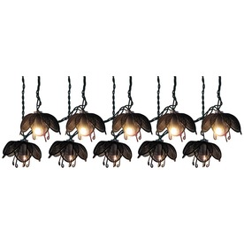 7.8-ft Black Mini Bulb Lotus Patio String Lights