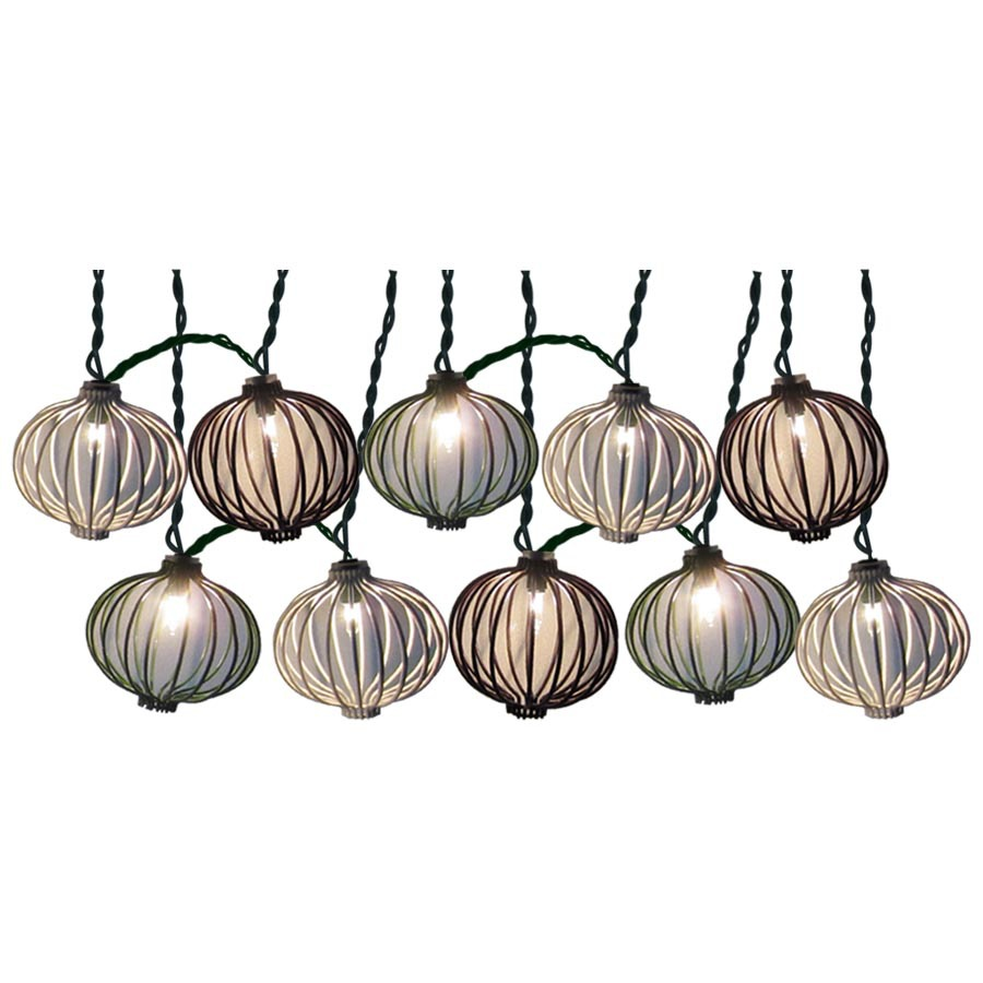 Backyard String Lights Lowes :  ft Multicolor Mini Bulb Lantern Patio String Lights at Lowescom
