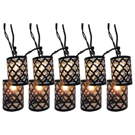 Lowes Deck String Lights : Shop Style Selections 7.8-ft Black Mini Bulb Scroll Patio String Lights at Lowes.com