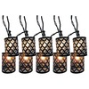 Style Selections 7.8-ft Black Mini Bulb Scroll Patio String Lights