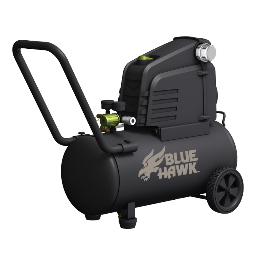 out zoom in blue hawk 1 5 hp 8 gallon 135 psi electric air compressor