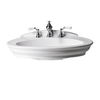 River's Edge 29-3/8-in L x 20-in W Cote D-ft Azur White Vitreous China Oval Pedestal Sink Top