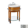 River's Edge Cote d' Azur Fawn Maple Integral Single Sink Maple Bathroom Vanity with Vitreous China Top (Common: 26-in x 18-in; Actual: 26.8-in x 18.5-in)