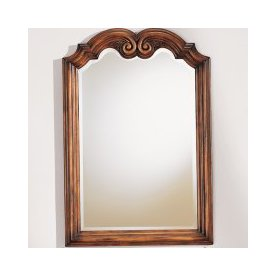 allen + roth 28-in H x 20-in W Ellerton Java Arch Bathroom Mirror