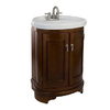allen + roth Botany Bay Mahogany Integral Single Sink Asian Hardwood Bathroom Vanity with Vitreous China Top (Common: 25-in x 19-in; Actual: 25-in x 19-in)