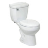 River's Edge Hillbrook White 1.6; 1.0-GPF (6.06; 3.79-LPF) 12-in Rough-in Elongated 2-Piece Comfort Height Toilet
