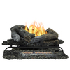 Pleasant Hearth 24-in 33,000-BTU Triple-Burner Vent-Free Gas Fireplace Logs with Thermostat and Remote Control