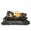 Pleasant Hearth 30-in 33,000-BTU Dual-Burner Vent-Free Gas Fireplace Logs with Thermostat with Remote Control