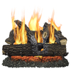 Pleasant Hearth 30-in 65000-BTU Pan Vented Gas Fireplace Logs