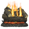 Pleasant Hearth 24-in 55,000-BTU Dual Vented Gas Fireplace Logs