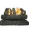 Pleasant Hearth 24-in 30,000-BTU Dual Vent-Free Gas Fireplace Logs with Thermostat